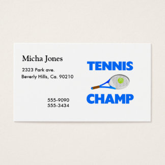 Tennis Champ Business Card