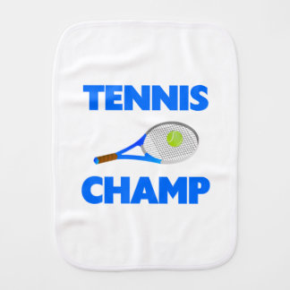 Tennis Champ Baby Burp Cloths
