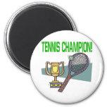 Tennis Champion 2 Inch Round Magnet