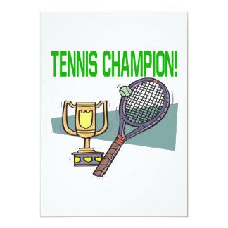 Tennis Champion Card