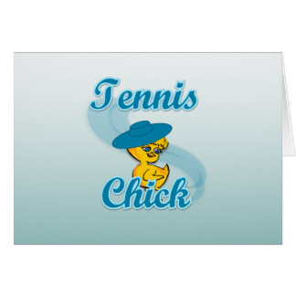 Tennis Chick 3 Card