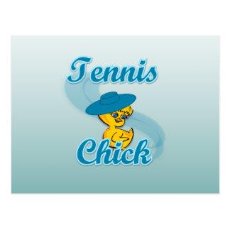 Tennis Chick 3 Postcard