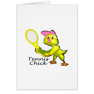 Tennis Chick Greeting Cards