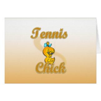 Tennis Chick Card