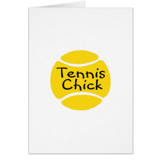 Tennis Chick Cards