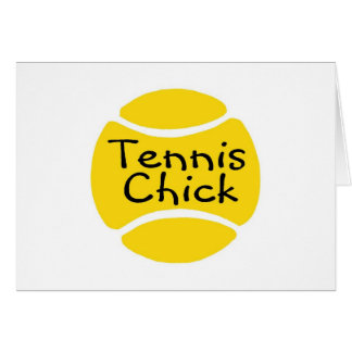 Tennis Chick Card