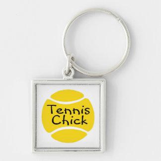 Tennis Chick Keychain