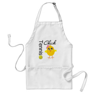 Tennis Chick Player Adult Apron