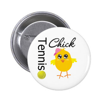 Tennis Chick Player Pinback Button