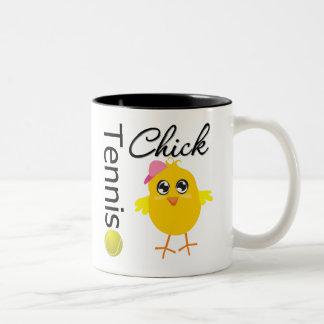 Tennis Chick Player Two-Tone Coffee Mug