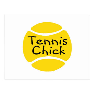 Tennis Chick Post Card