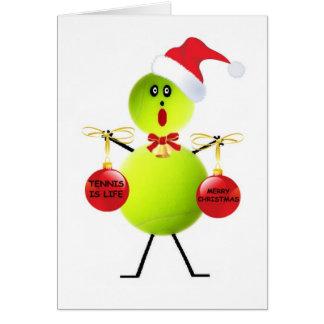 Tennis Christmas Greeting Cards