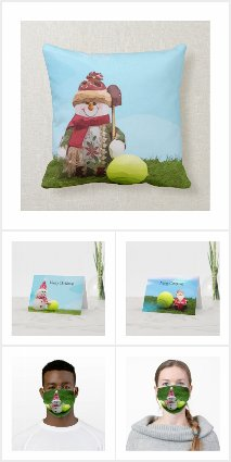 Tennis Christmas Cards and Gifts