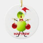 Tennis Christmas Cartoon Christmas Ornaments