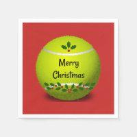 Tennis Christmas Design Napkins