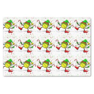 """Tennis Christmas Elf Tiled Tissue Paper 10"""" X 15"""" Tissue Paper"""