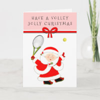 Tennis Christmas Greeting Holiday Card
