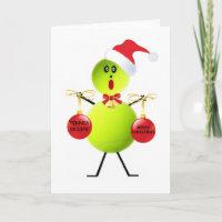 Tennis Christmas Holiday Card