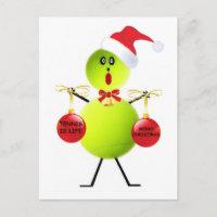 Tennis Christmas Holiday Postcard
