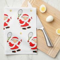Tennis Christmas Kitchen Towel