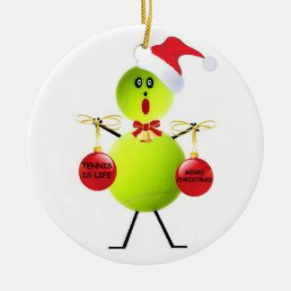 Tennis Christmas Christmas Tree Ornaments