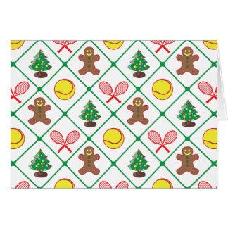Tennis Christmas pattern Card
