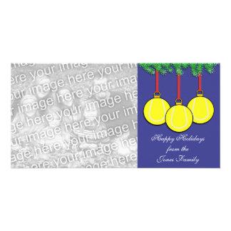 Tennis Christmas Photo Card