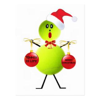 Tennis Christmas Post Cards