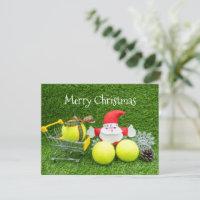 Tennis Christmas shopping with Santa Claus Card