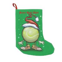Tennis Christmas Small Christmas Stocking