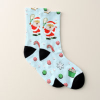 tennis Christmas Socks