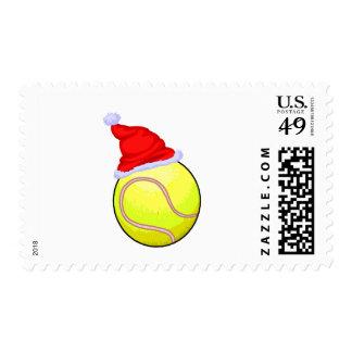 Tennis Christmas Stamp