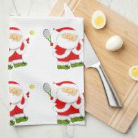 Tennis Christmas Towel