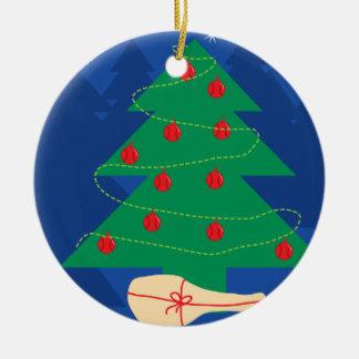 Tennis Christmas tree decoration ball ornament