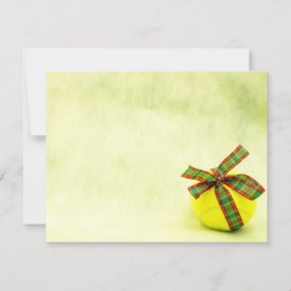 Tennis Christmas with Christmas ribbon Card