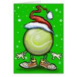 Tennis Chrsitmas Greeting Card