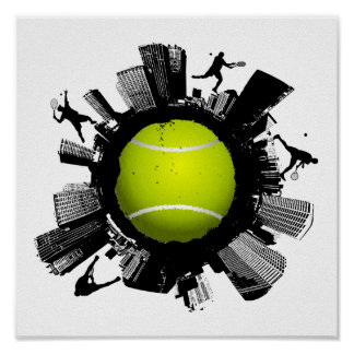 Tennis City Poster