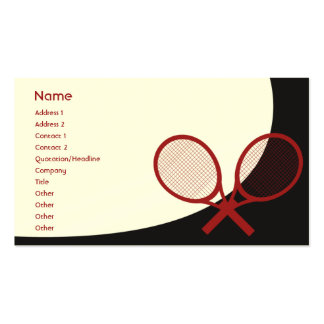 Tennis - Classic Double-Sided Standard Business Cards (Pack Of 100)