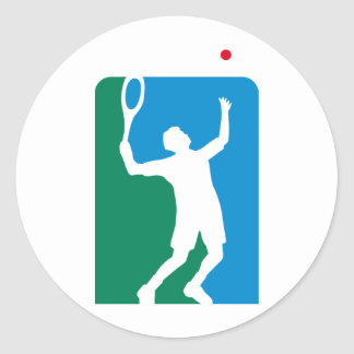 tennis classic round sticker