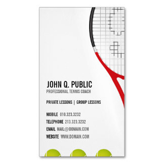 Tennis Coach Business Card Magnets