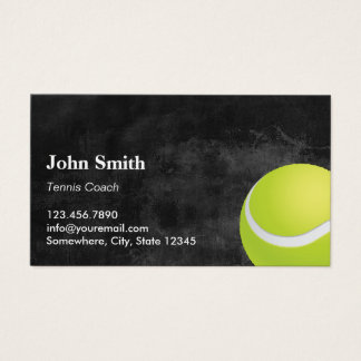Tennis Coach Chalkboard Business Card
