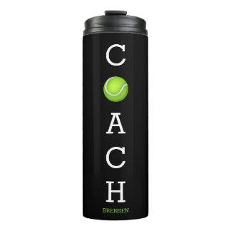 Tennis Coach Custom Name Thermal Tumbler