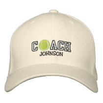 Tennis Coach Embroidered Baseball Hat