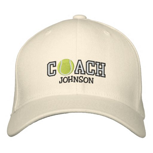 4a2597b1703dd Tennis Coach Embroidered Baseball Hat