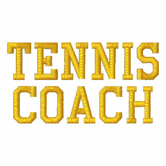 TENNIS COACH EMBROIDERED JACKETS