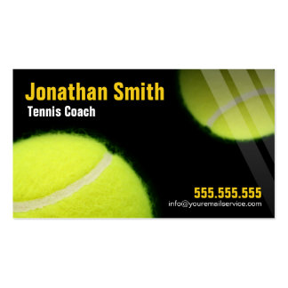 Tennis Coach For Tennis Lessons Double-Sided Standard Business Cards (Pack Of 100)