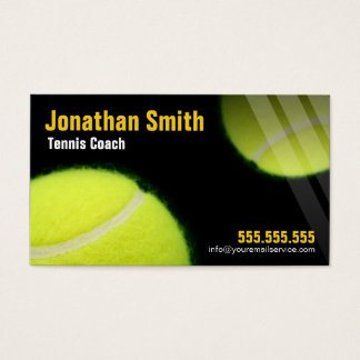 Tennis Coach For Tennis Lessons Business Card