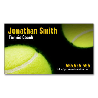 Tennis Coach For Tennis Lessons Business Magnetic Business Card