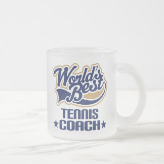 Tennis Coach Gift Frosted Glass Coffee Mug