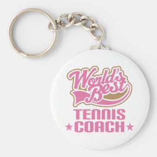 Tennis Coach Gift Basic Round Button Keychain